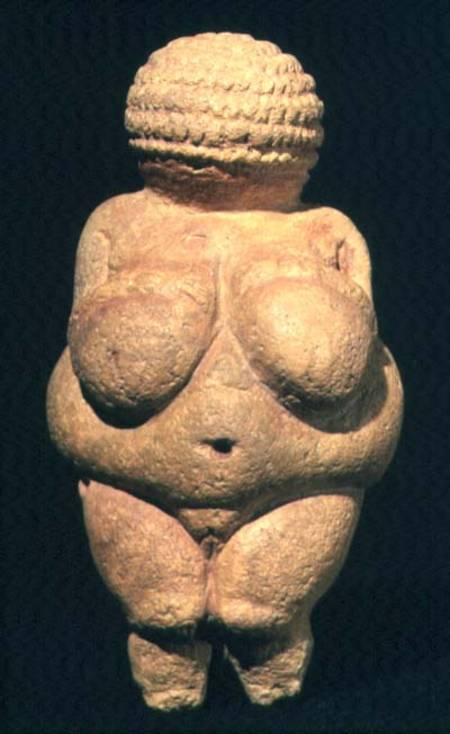 XAM54146 The Venus of Willendorf, Fertility Symbol, Pre-Historic sculpture, 30000-25000 BC (front view) Naturhistorisches Museum, Vienna, Austria Ali Meyer out of copyright